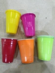 plastic colorful cups
