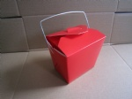 solid red take away box